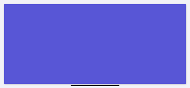Indigo view pinned to superview in Xcode simulator